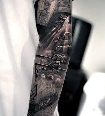 50 Tattoo 3d Sleeve Pro Muže Nápady Trojrozměrného Designu