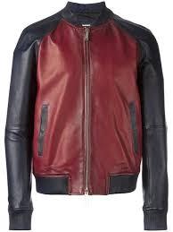 dsquared2 contrasted leather er jacket