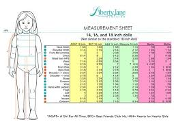 American Doll Size Chart Complete American Girl Size Chart 2019