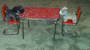 American Girl Doll Molly 1940s Chrome Kitchen Table Chairs
