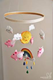 DIY Tutorial DIY Nursery Mobiles / DIY Felt Flying Pigs Baby Mobile -  Bead&Cord