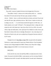 daisy miller essay composition ii ms briese daisy miller  4 pages daisy miller essay 1 1 1