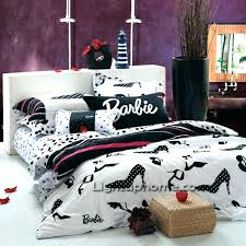 barbie bed set ballerina bedding sets full size barbie bed set the most black and white