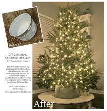 How to Make a Tree Skirt out of a Galvanized Tub {Crate & Barrel Inspired}