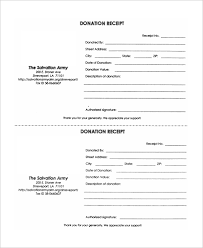 salvation army receipt sample donation receipt 10 examples in word pdf