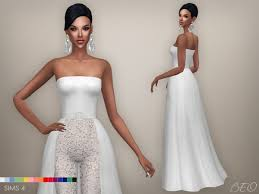 BEO Creations: Jumpsuit Serena • Sims 4 Downloads