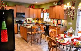Of Decorated Kitchens Modern Kitchen Decoration For Christmas 2016 Of Decorating Tips