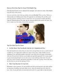 Teen first date tips