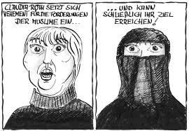 Bildergebnis für muslime pflege karikatur