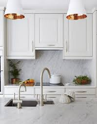 white traditional kitchen copper. White Traditional Kitchen With Copper-lined Pendant Lights Copper Pinterest