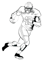 Football Player Coloring Pages Nfl Players Of Footbal Alex Photo