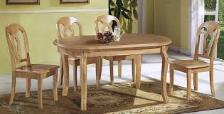 gorgeous wooden dining table chairs wood dining table set oval polished teak wood dining table with