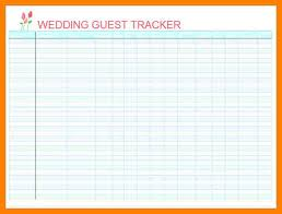 7 Free Printable Wedding Guest List Spreadsheet Reptile