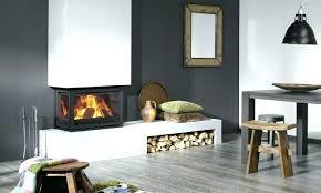 corner wood fireplace burning insert 3 sided double