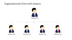 Org Chart With Photos Organizational Chart Template With Avatars For Powerpoint