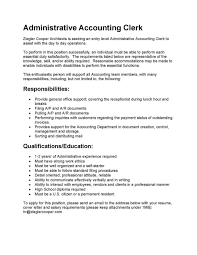 Accounting Clerk Job Description Resume Accounting Clerk Cover Letter For Accounts Payable Job 5