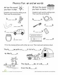 There are 10+ worksheet makers and printable game templates you can use to make custom worksheets, and an additional section of free online phonics games for students. Phonics Fun Ar And Or Words Worksheet Education Com Phonics Worksheets Grade 1 Phonics Worksheets Phonics Worksheets Free