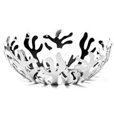 Decorative Metal Fruit Bowls Alessi Mediterraneo Large Stainless Steel Fruit Bowl Peter's 20