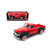 1950 Gmc Pickup Truck Red/Black 1/18 Diecast Model Car by Road ...