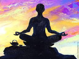 original yoga painting omwoman yoga meditate. The Painting \u0027Meditation On A Waning Moon\u0027 - Oil Yoga Original Omwoman Meditate