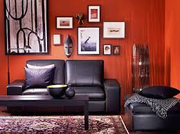 red and black furniture. red orange and black living room gallery furniture