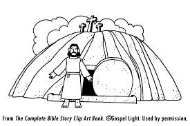 Small Picture Jesus Burial and Resurrection Teaching Resources Coloring Pages