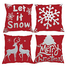Embroidered Christmas Pillow Covers