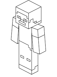 Steve Kleurplaatkoningnl Minecraft Kleurplaten Mo