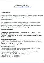 sap consultant resume