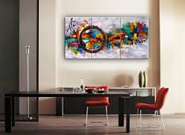 modern canvas art. Santin Art-Circle Of Magic Modern Canvas Art Wall Decor Abstract Oil Painting Contemporary Paintings Framed For Home 3 0