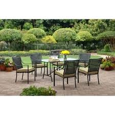 7 piece patio dining set. Mainstays Patio Set Heights Ii 7 Piece Dining Seats 6 In Replacement Cushions For Outdoor Furniture Remodel Oakmont Meadows 3