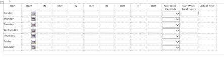 Timesheet Calculating Time Across Entries Infopath Dev