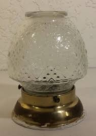 Vintage Antique Clear Glass Ceiling Light Cover Globe Hobnail Lamp