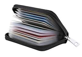 Easyoulife <b>Genuine</b> Leather Credit Card Holder <b>Zipper</b> Wallet With ...