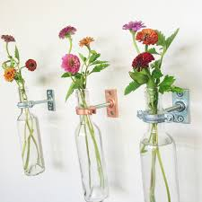 ... Fill Room With Beautiful Decoration And Freshing Ideas Wall Vase In  Bottles Transparent Glass ...