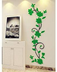 generic elegant home decoration diy 3d acrylic crystal wall stickers living room bedroom tv background home green