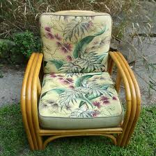 vintage 1950s bamboo patio chair w