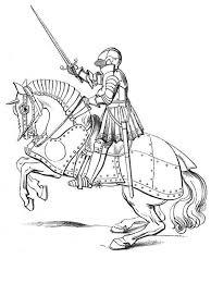 Kleurplaat Van Ridders 11 Middle Ages Ridders Kleurplaten En