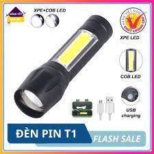Đèn pin mini siêu sáng , chống nước khi đi mưa, 4 chế độ sáng, sử dụng sạc  giá cạnh tranh
