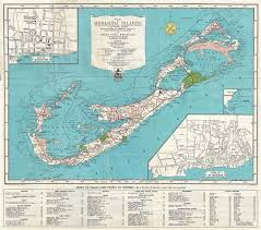 Bermuda Navigation Charts Map Of The Bermuda Islands Alias Somers Islands