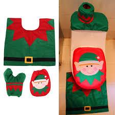 bathroom sets happy santa toilet cover