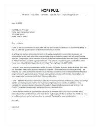Example Teacher Cover Letter Cover Letter Example Teacher Example