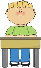 student sitting at desk hands folded. Delighful Sitting Student Sitting At School Desk In At Hands Folded F