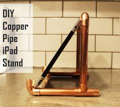 diy copper pipe ipad stand view in gallery