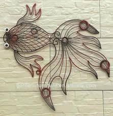 metal fish wall art metal fish wall decor wrought iron metal art wrought iron wire animal
