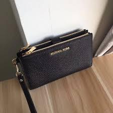 authentic michael kors adele leather smartphone wristlet luxury bags wallets on carou