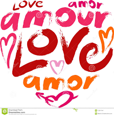 Heart With A Word Love In A Many Languages Stock Illustration