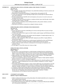 Hr Advisor Resume Sample Employee Relations Advisor Resume Samples Velvet Jobs 21