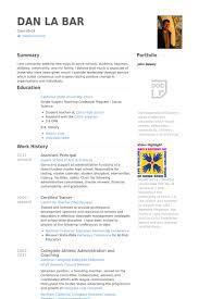 Assistant Principal Resume Samples VisualCV Resume Samples Database Gorgeous Assistant Principal Resume