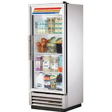 true t 12g hc fgd01 25 single section reach in refrigerator 1 glass door 115v